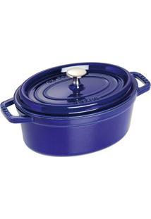 Caçarola Oval Ferro Fundido 31 Cm Azul Marinho Staub