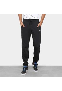 Calça Moletom Adidas Graphic Track Masculina - Masculino-Preto+Branco