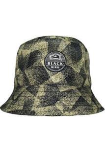 Chapéu Bucket Hats Black Bird - Unissex-Preto+Areia