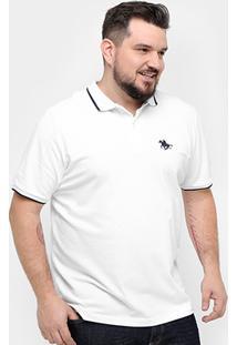 Camisa Polo Rg 518 Piquet Frisos Bordado Plus Size Masculina - Masculino