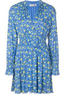 Diane Von Furstenberg Macaquinho Henrietta Com Estampa Floral - Azul