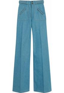 Marc Jacobs Calça Jeans Flare Cintura Alta - Azul