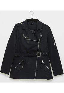 Trench Coat The Style Box Feminino - Feminino-Marinho
