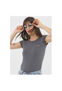 Camiseta Polo Wear Flamê Cinza