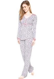 Pijama Any Any Carole Cinza