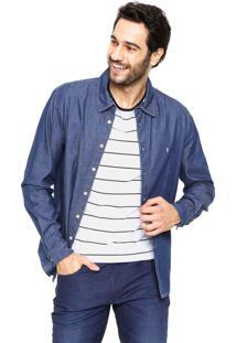 Camisa Jeans Zoomp Raul Azul