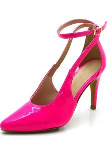 Sandália Salto Alto Flor Da Pele 1752 Pink
