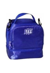 Bolsa Térmica Fitness Lancheira C/ Alca Azul - Lc15021 Yes