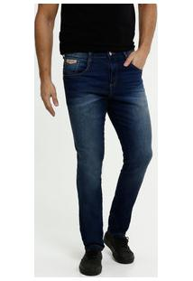 Calça Masculina Jeans Bolsos Skinny Biotipo