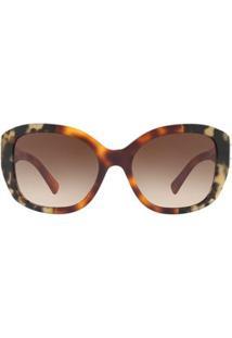 Óculos De Sol Burberry Irregular Be4248 Feminino - Feminino-Caramelo