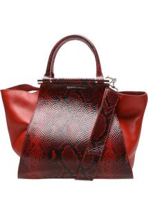 Bolsa Estruturada Textura Animal- Vermelha & Pretaschutz