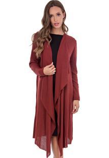 Kimono Longo Myah Leona Bordô