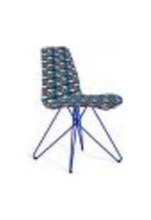 Cadeira De Jantar Eames Butterfly Azul