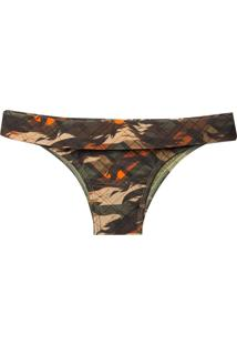 Calcinha Rosa Chá Kate Military Chess Beachwear Estampado Feminina (Military Chess, M)