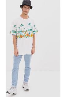 Camiseta Oversized Estampa Simpsons Praiano