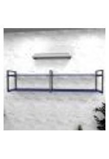 Estante Industrial Escritório Aço Cor Preto 180X30X40Cm (C)X(L)X(A) Cor Mdf Azul Modelo Ind40Azes