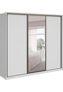 Guarda-Roupa Casal Com Espelho Spazio L 3 Pt 6 Branco