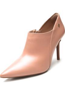 Ankle Boot Couro Capodarte Lisa Nude