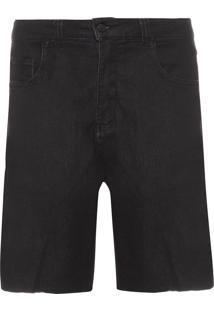 Bermuda Masculina 5 Pockets Knit - Preto