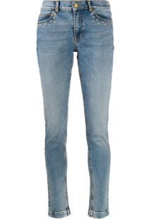 Escada Sport Faded Skinny Jeans - Azul