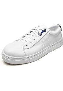 Tênis Couro Calvin Klein Cadarço Branco/Preto