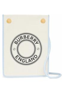 Burberry Bolsa Transversal Pequena Com Logo Gráfico - Azul