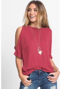 Blusa Com Ombros Vazados Pink