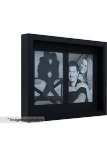 Porta Retrato Com Passe-Partout- Preto- 22X27X3Cm