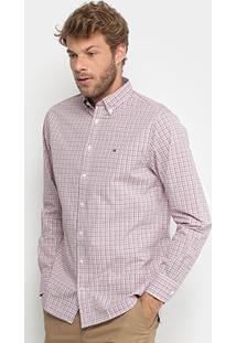 Camisa Xadrez Tommy Hilfiger Regular Fit Masculina - Masculino