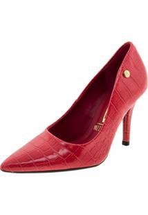 Sapato Feminino Scarpin Vermelho Vizzano - 1184301