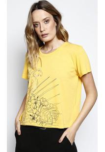 Camiseta Arara - Amarela & Preta - Coca-Colacoca-Cola