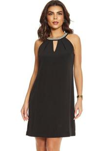Vestido Mini Vestido Feminino Preto