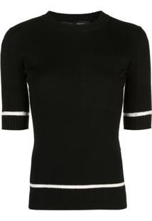 Proenza Schouler Blusa Decote Careca De Tricô Canelado - Preto