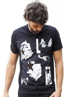 Camiseta Hardivision Hands Manga Curta - Masculino-Preto