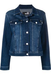 Love Moschino Jaqueta Jeans 'Moschino Heart' - Azul