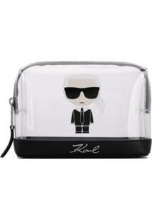 Karl Lagerfeld Bolsinha Transparente 'K/Ikonik' - Branco