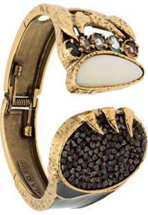 Camila Klein Bracelete Crystal Rocks - Dourado