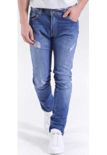 Calça Jeans St Fit Medium Wash Indigo Médio