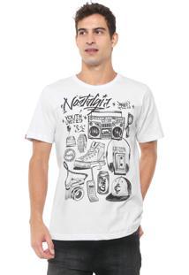 Camiseta Coca-Cola Jeans Aroma Estampada Branca