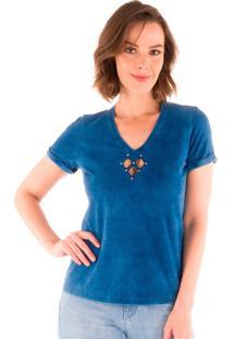 Blusa Feminina Azul Índigo