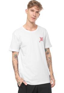 Camiseta Ed Hardy Flaming Skull Branca