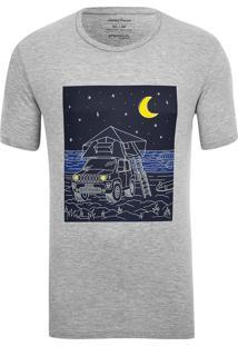 Camiseta Especial Jeep E Wsl Renegade Camping Mescla Cinza