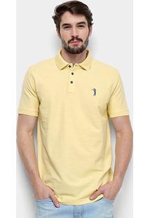 Camisa Polo Aleatory Piquet Masculina - Masculino-Amarelo