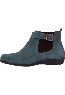 Botina Cano Curto 2253 Camurça Atron Shoes Azul