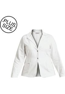 Blazer Quintess Plus Size Branco