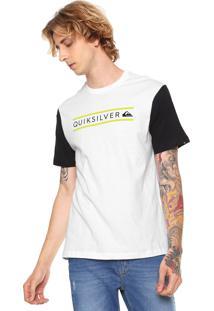 Camiseta Quiksilver Logo Branca