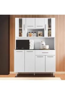 Armário De Cozinha 8 Portas 1 Gaveta Gabi Poliman Móveis Branco