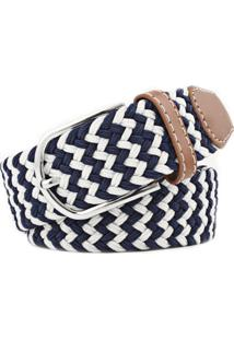 Cinto Masculino Wb Collection Blue And White