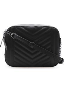 Bolsa Feminina Corello Crossbody Maite Eco Mini Floater Corello Cross Bag Preto