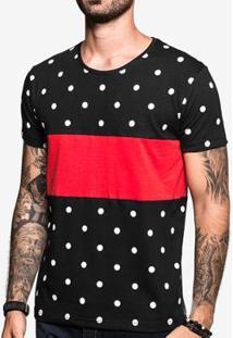 Camiseta Hermoso Compadre Poá Recorte - Masculino-Preto